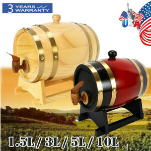 Wood-Pine-Timber-Wine-Barrel-For-Whiskey-Rum-Port-Wooden-Keg-with-Stand-SALE-USA