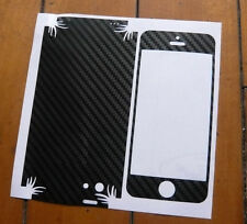 3 X Carbon Fibre Skin Sticker Full Body Wrap For Apple iPhone 5C