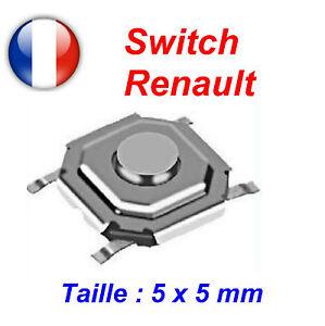 2 X SWITCH BOUTON POUR CLE PLIP CARTE CML RENAULT MEGANE LAGUNA SCENIC ESPACE