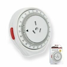SANSAI 24 Hour Programmable Mechanical Timer with Auto Switch ON&OFF PAD27 240V