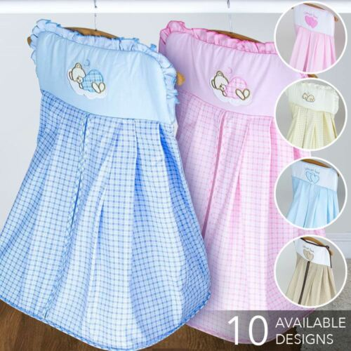 Nursery Nappy Bag with Embroidery Baby Diaper Stacker Match Bedding Crib Cot Set