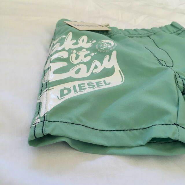 Diesel Mostum 6m Infant Baby Boys Blue Swim Shorts BNWT Swimming Trunks Swimwear