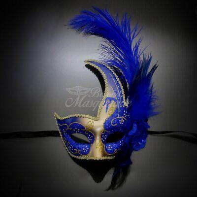 Spike Mardi Gras Venetian Masquerade Ball Mask for Men M3119 Black