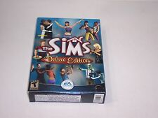 The Sims Deluxe Edition (PC, 2002) with small Box Manual Key Included Simulation