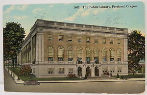 Public-Library-Portland-1913-Postcard-US-Postcard-Ak-A3071