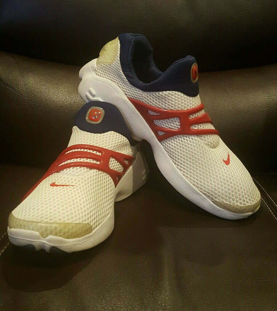 NIKE AIR PRESTO RARE VINTAGE 2001 RED WHITE BLUE SIZE 8 USED