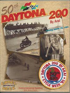 Vintage Daytona 200 Program 1991 Camel Superbike Supercross Race Like New Patch
