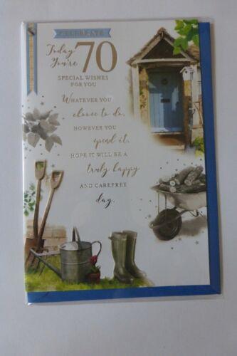 Mens 70th Birthday Card Size 13cm x 19.5cm