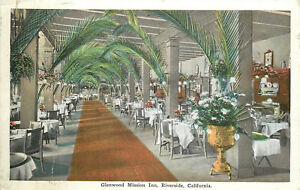 OLD-DB-Postcard-AH-B646-Glenwood-Mission-Inn-Riverside-California-Dining-Room