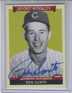2009-Goudey-Sport-Royalty-Authentic-Autograph-On-Card-Ron-Santo-Chicago-Cubs-HOF