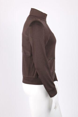 Knit Taupe zip John manica St giacca corta 2 Sz pezzi e L M set Top di seta qnwOwCSx