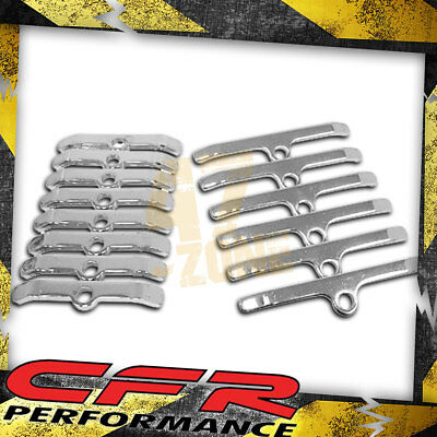 CHROME VALVE COVER HOLD-DOWN TABS SPREADER BARS FOR CHEVY BIG BLOCK