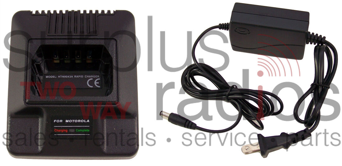 NEW RAPID CHARGER FOR MOTOROLA RADIUS GP300 P1225 P110 GTX800 GTX900 GP350 . Available Now for 29.50
