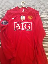 Manchester United 08-09 Player Issue Size L Cristiano Ronaldo 7