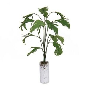 1-12-Gruene-Bananenbaum-im-weissen-Flasche-Miniatur-Puppenhaus-Garten-Zubehoe-2I