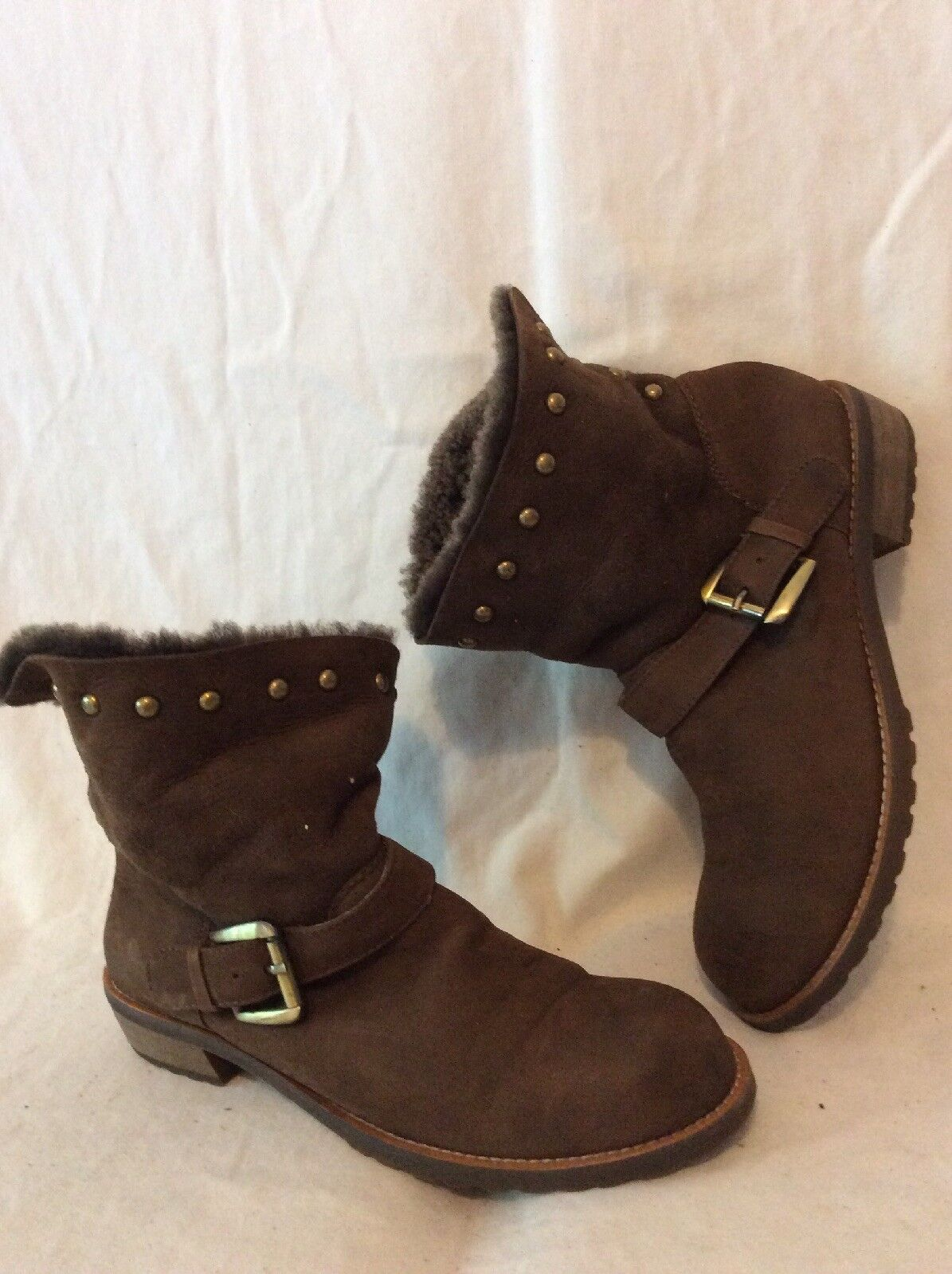 Jipi Japa Brown Ankle Leather Boots Size 36