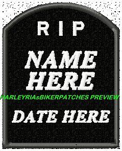 CUSTOM-MADE-TO-ORDER-MEMORIAL-RIP-PATCHES-with-COLOURED-or-BLACK-BACKGROUND