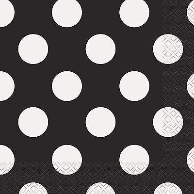 Silver /& White Polka DotDots 33cm Paper Party NapkinsServiettes 1-96pk