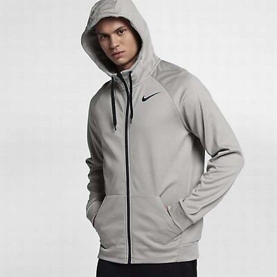 NIKE HYPERSPEED FLEECE FULL ZIP THERMA HOODIE GREY 694093-065 MEN/'S SIZE XL