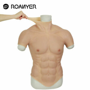 Roanyer Silicone Muscle Chest Realistic Male Chest Vest Enhancement Cosplay Suit