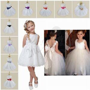 Flower-Girl-Dresses-Birthday-Wedding-Bridesmaid-Formal-Pageant-Graduation-Dress