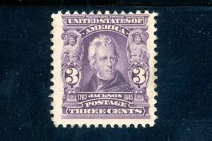 USAstamps-Unused-FVF-US-Series-of-1902-Jackson-Scott-302-OG-MLH