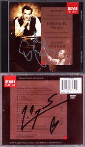 Emmanuel-PAHUD-amp-Marie-Pierre-LANGLAMET-Signed-MOZART-Flute-Concerto-Harp-ABBADO