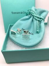 Elegant Tiffany & Co. Sterling Silver Notes Square Cuff Links Cufflinks