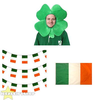 Irish Supporta Pack Patriottico Irlanda Tri-colour Decorazione Fancy Dress Party-mostra Il Titolo Originale Ultimo Stile