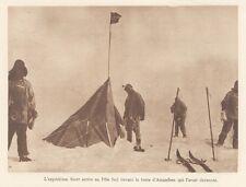 G0750 Expédition Scott arrive au Pole Sud - Stampa d'epoca - 1926 old print
