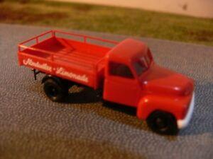 """#37133 Brekina Hanomag L 28 /""""Shell-Tankstellendienst/"""" mit Zapfsäulen 1:87"""