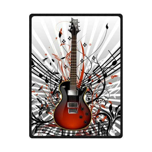 Brand New Soft Guitar Throw Blanket 58  x 80  Inch