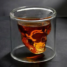 New Vodka Whiskey Skull Head Shot Crystal Glass Cup Drinking Ware Home Bar beer