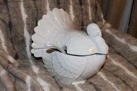 Pottery Barn Turkey Tureen 3pc Ladle Thanksgiving Serving Dish Bowl