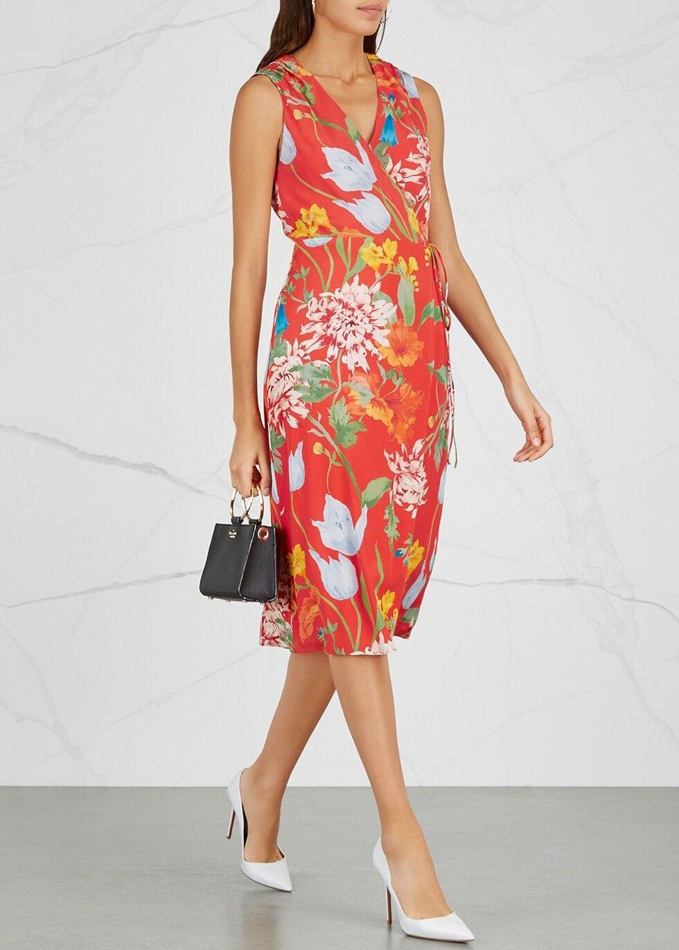 Alice+ Olivia Tasia Sleeveless Silk Wrap Dress ( Size Size Size 2 ) 066e08