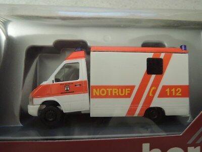 Herpa 044417 VW LT2 RTW Koffer Feuerwehr Wolfsburg in OVP aus Sammlung 6