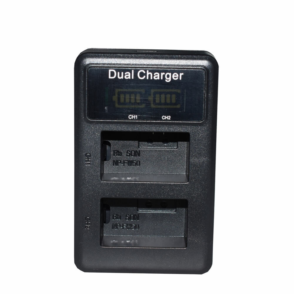 Battery or USB Dual Charger for Sony NP-FW50 BC-VW1 & ILCE-6100 Alpha a6100