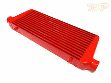 "Universal Custom Red Front Mount Alloy Intercooler 550mm 230mm 65mm 2.25"" Inlets"