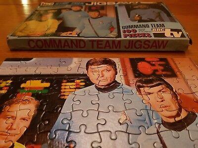 100% Vero Rare Bbc Tv Star Trek Puzzle. N. 2 Del Comando Squadra Kirk Spock Ossa- Abbiamo Vinto L'Elogio Dai Clienti