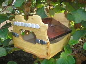 Birdhouse cadeau en bois oiseaux.   Modèle exclusif.   Palais Fugl Trehus