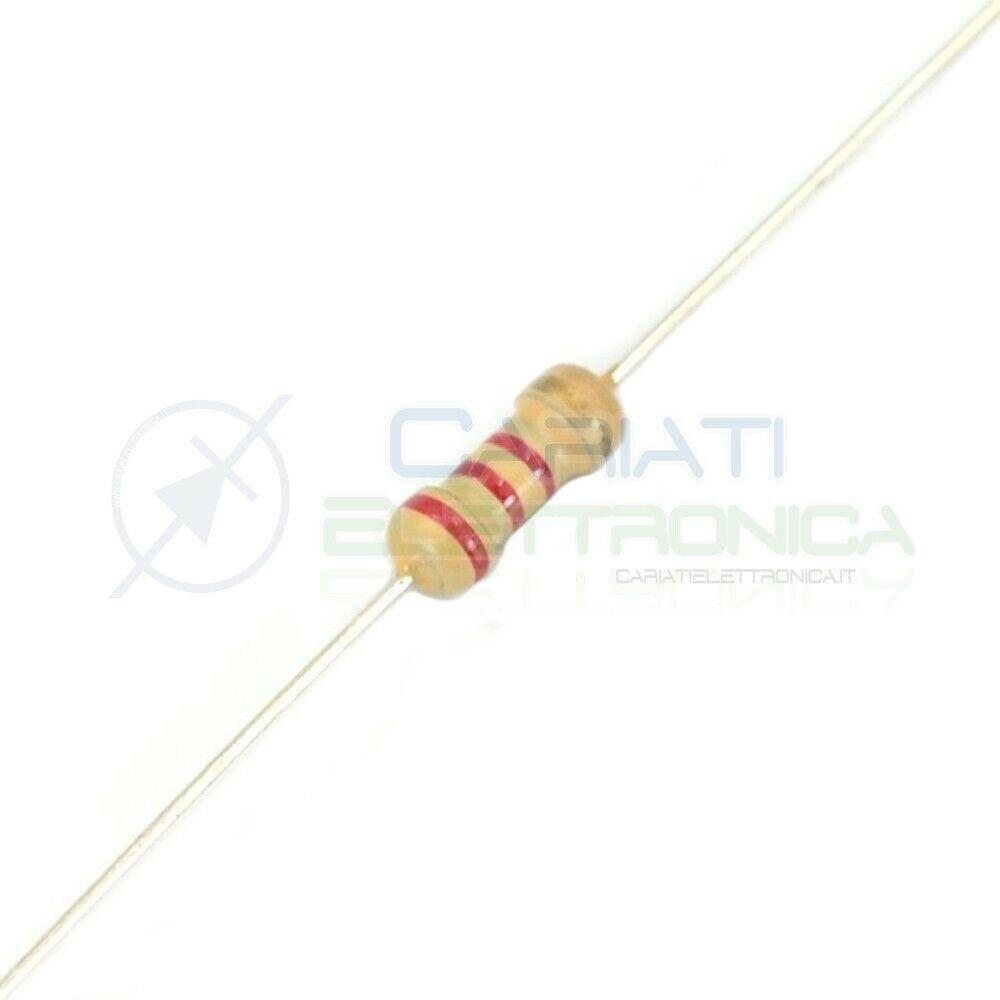 10 Pezzi RESISTENZA 1 W 5/% 220 Kohm A STRATO DI CARBONE RS1 CONF