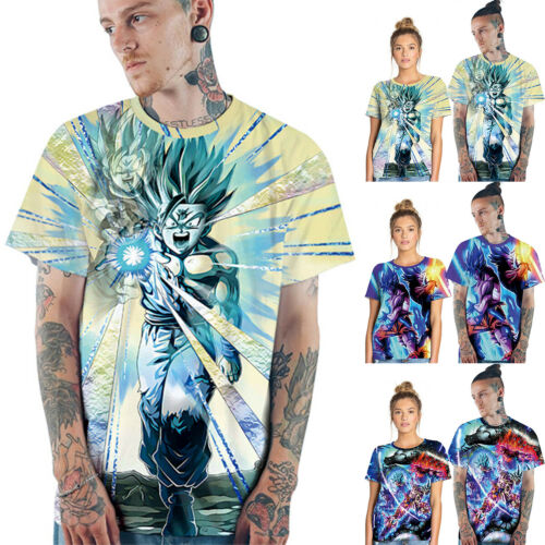 Anime 3D Printed Mens T-shirt Clothing Casual Short sleeve Summer Couple Top Tee