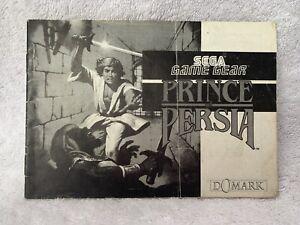 Prince Of Persia Sega Game Gear Solo Manual PAL Gratis P + P