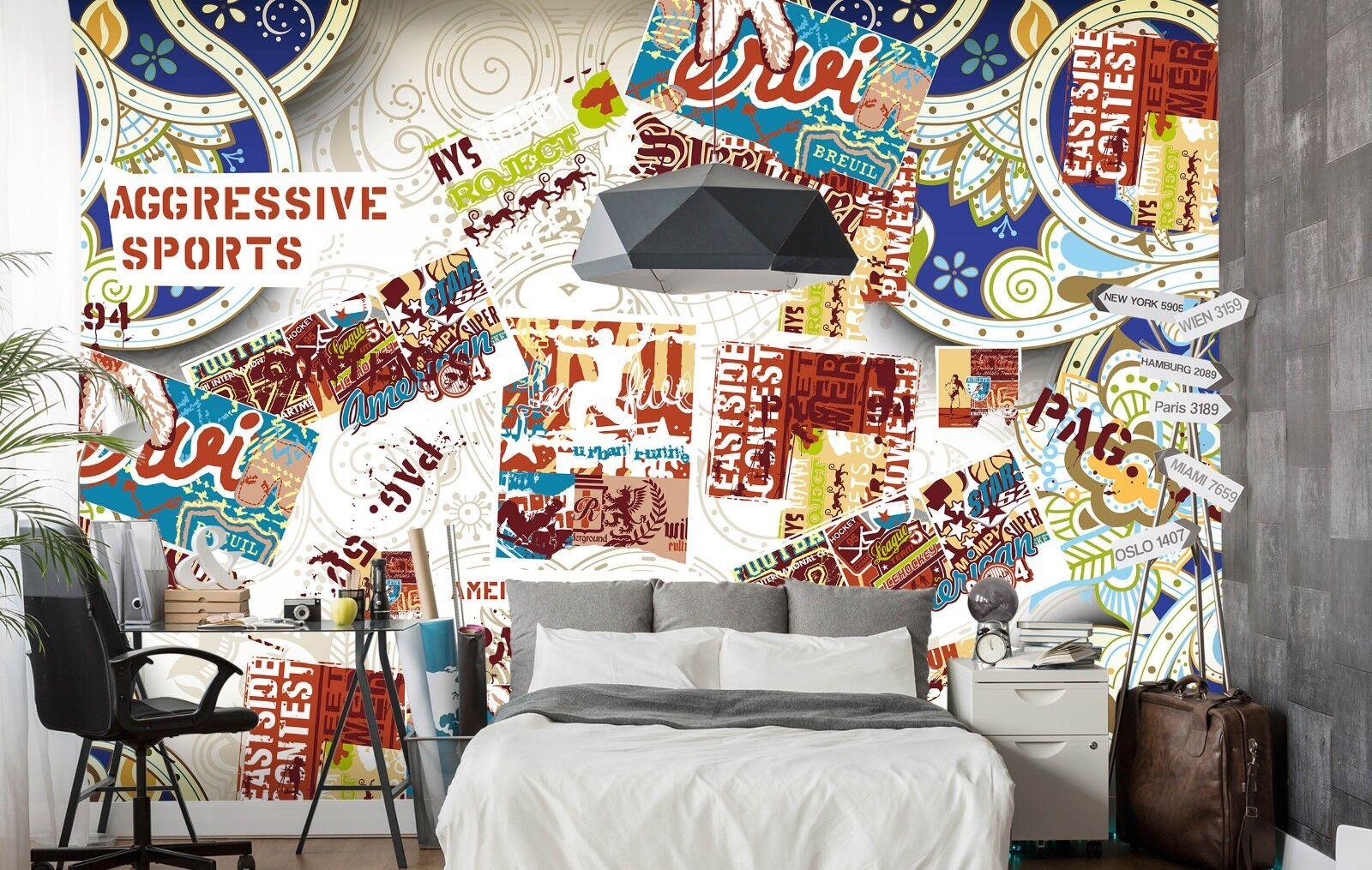 3D Magazine Painting 87 Wallpaper Mural Paper Wall Print Murals UK Lemon