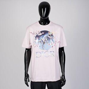DIOR-x-SORAYAMA-550-Dinosaur-amp-Logo-Print-Tshirt-In-Pink-Cotton-Jersey