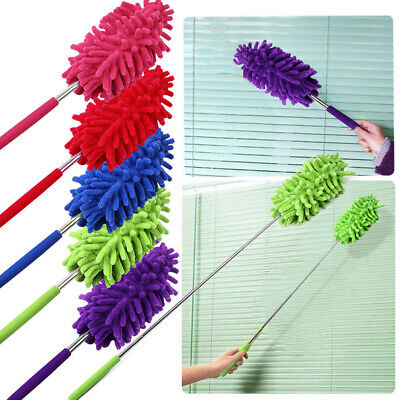 Extendable Microfiber Duster Cleaning Feather Extending Brush Telescopic Dust Z