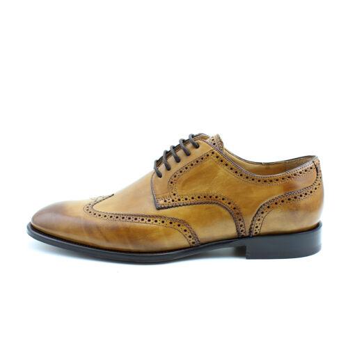 Hommes Derby Richelieu à Derbies élégant Brun Chaussures en Cuir Italien GIORGIO REA 7937 mA