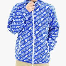 6e01e38b34 item 6 Super Rare Adidas Originals All Over Print Logo Windbreaker Jacket  Blue White Sm -Super Rare Adidas Originals All Over Print Logo Windbreaker  Jacket ...