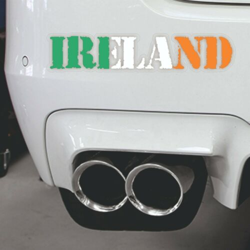 Ireland Outline  Flag  Map Laptop Bumper Window Sticker Proud to be Irish