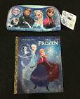 Disney Frozen Bundle Puzzle Pouch Anna Elsa Little Golden Book Ages 3+ Toy Girls